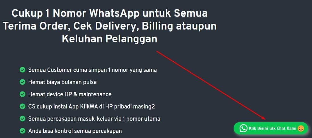 Whatsapp chat button widget untuk website anda